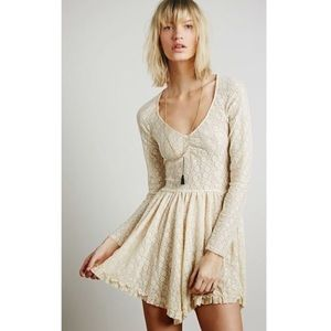 SALE!🌻Free People French Stretch Lace Tea Dress